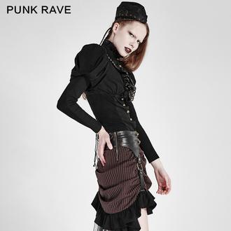 košile dámská PUNK RAVE - Queen of hearts - Black
