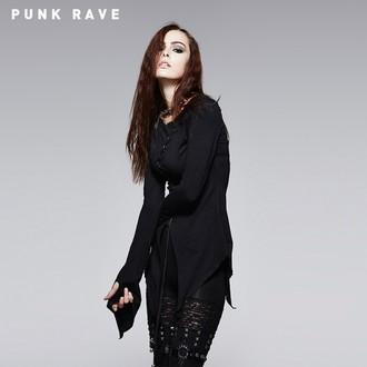 tričko dámské s dlouhým rukávem (tunika) PUNK RAVE - Hypnosis, PUNK RAVE