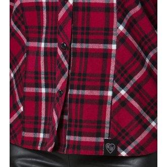 košile dámská s dlouhým rukávem METAL MULISHA - Genevieve - FA6704000.01_RED