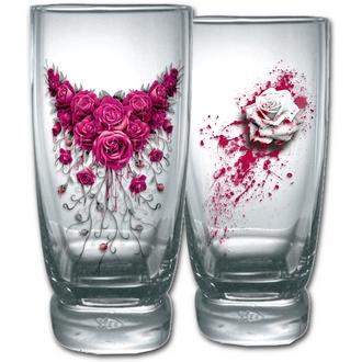 sklenice (sada 2ks) SPIRAL - BLOOD ROSE, SPIRAL