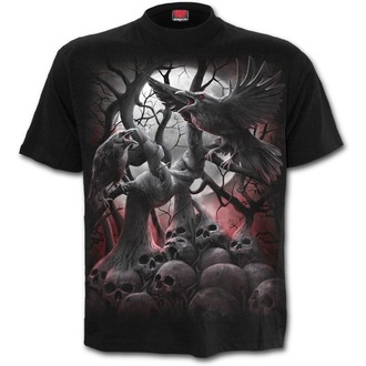 tričko pánské SPIRAL - DARK ROOTS - Black - D069M101