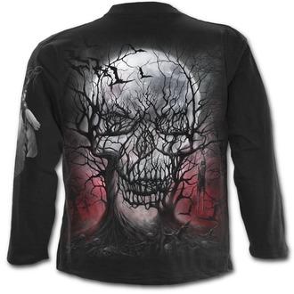 tričko pánské s dlouhým rukávem SPIRAL - DARK ROOTS - Black - D069M301