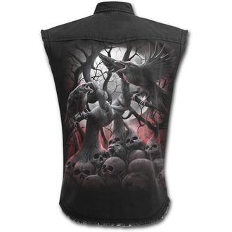 košile pánská bez rukávů SPIRAL - DARK ROOTS - Black - D069M602