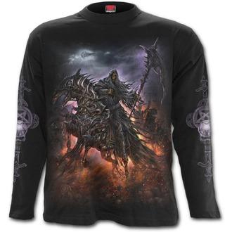 tričko pánské s dlouhým rukávem SPIRAL - 4 HORSEMEN - Black - T132M301