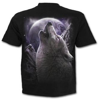 tričko pánské SPIRAL - WOLF SOUL - Black