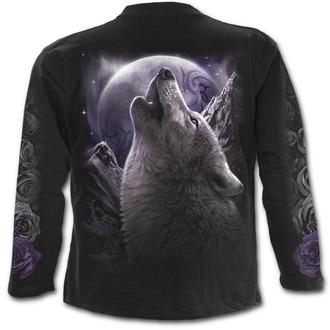 tričko pánské s dlouhým rukávem SPIRAL - WOLF SOUL - Black - T133M301