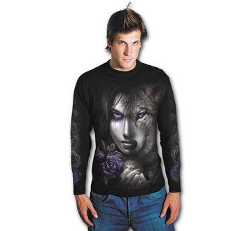 tričko pánské s dlouhým rukávem SPIRAL - WOLF SOUL - Black