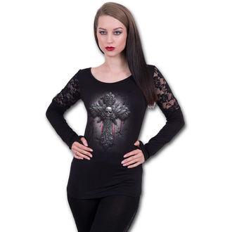 tričko dámské s dlouhým rukávem SPIRAL - CRUCIFIX - Black