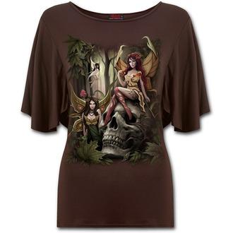 tričko dámské SPIRAL - WOODLAND FAIRY - Chocolate - L030F748