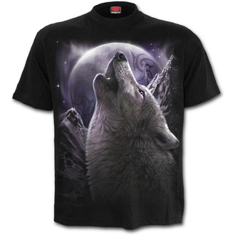 tričko unisex SPIRAL - WOLF SOUL - Black - T133M121