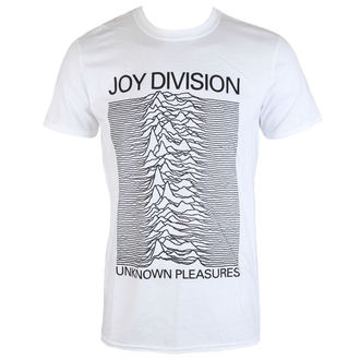 tričko pánské Joy Division - Unknown Pleasures - White - PLASTIC HEAD, PLASTIC HEAD, Joy Division