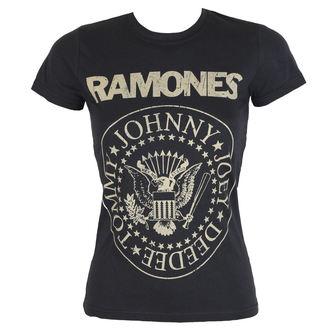 tričko dámské Ramones - DISTRESS CREST - BRAVADO, BRAVADO, Ramones