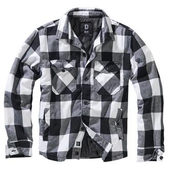 bunda pánská BRANDIT - Lumberjacket checked - 9478-white/black check