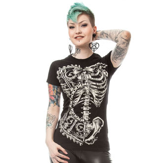 tričko dámské POIZEN INDUSTRIES - BONE CORSET T - BLACK - POI176