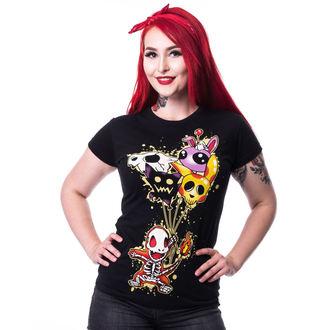 tričko dámské CUPCAKE CULT - FLAME T - BLACK, CUPCAKE CULT