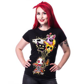 tričko dámské CUPCAKE CULT - FLAME T - BLACK - POI177