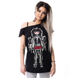 tričko dámské CUPCAKE CULT - DEAD INSIDE OFF SHOULDER T - BLACK, CUPCAKE CULT