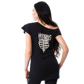 tričko dámské (tunika) HEARTLESS - TORTURE OFF SHOULDER T - BLACK
