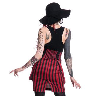 sukně dámská HEARTLESS - BREAK - BLACK/RED - POI144