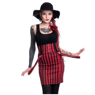 sukně dámská HEARTLESS - BREAK - BLACK/RED