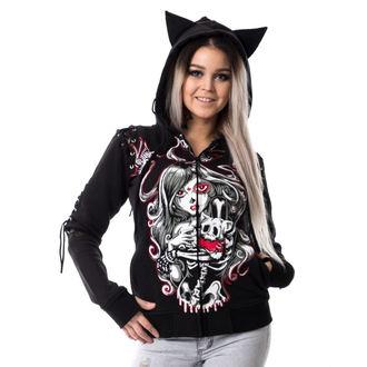 mikina dámská VIXXSIN - CAT MUERTE - BLACK - POI148