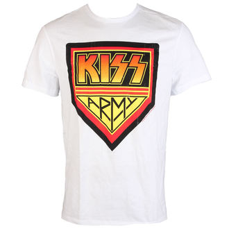tričko pánské KISS - ARMY - WHITE - AMPLIFIED, AMPLIFIED, Kiss