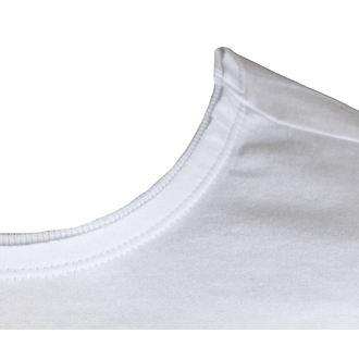 tričko pánské KISS - METAL DISTRESSED LOGO - WHT - AMPLIFIED