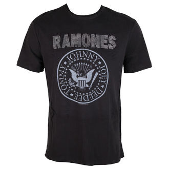 tričko pánské RAMONES - LOGO - CHARCOAL - AMPLIFIED, AMPLIFIED, Ramones