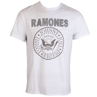 tričko pánské RAMONES - LOGO - WHITE - AMPLIFIED, AMPLIFIED, Ramones