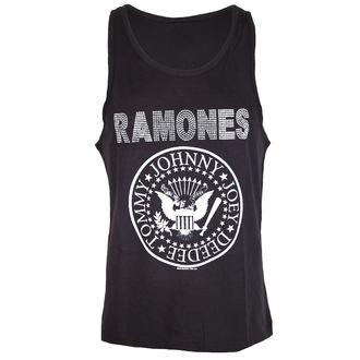 tílko pánské RAMONES - LOGO SILVER DIAMANTE - CHARCOAL - AMPLIFIED, AMPLIFIED, Ramones