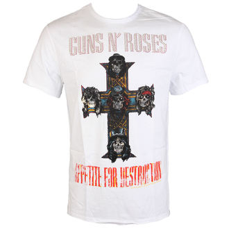 tričko pánské Guns N' Roses - CLASSIC DIAMANTE - WHT - AMPLIFIED, AMPLIFIED, Guns N' Roses