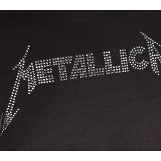 tričko pánské METALLICA - BLACK LOGO DIAMANTE - AMPLIFIED, AMPLIFIED, Metallica