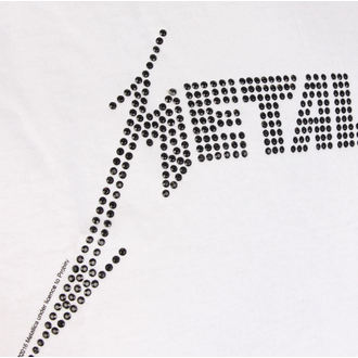 tričko pánské METALLICA - BLACK LOGO DIAMANTE - WHT - AMPLIFIED, AMPLIFIED, Metallica