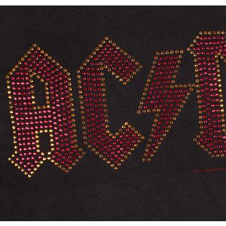 tričko pánské AC/DC - CLASSIC LOGO CHARCOAL RED - AMPLIFIED, AMPLIFIED, AC-DC