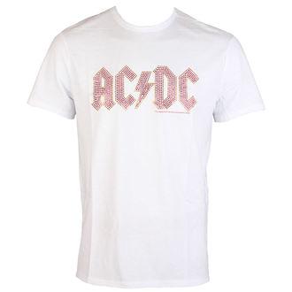 tričko pánské AC/DC - CLASSIC LOGO WHITE RED - AMPLIFIED, AMPLIFIED, AC-DC