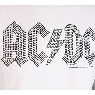tričko pánské AC/DC - CLASSIC LOGO WHITE BLACK - AMPLIFIED, AMPLIFIED, AC-DC