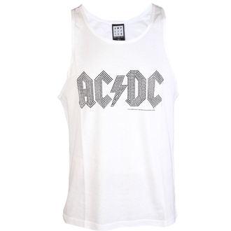 tílko pánské AC/DC - BLACK LOGO DIAMONTE WHITE - AMPLIFIED, AMPLIFIED, AC-DC