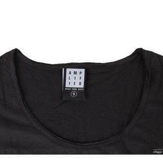 tričko dámské KISS - CLASSIC LOGO CHARCOAL - AMPLIFIED, AMPLIFIED, Kiss
