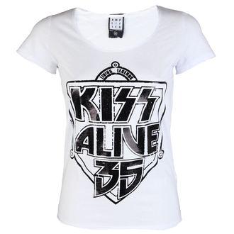 tričko dámské KISS - K 35 WHITE - AMPLIFIED - AV601K35 wht