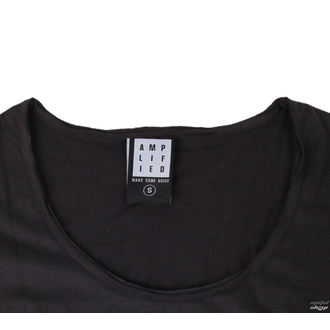 tričko dámské RAMONES - LOGO SILVER DIAMANTE - CHARCOAL - AMPLIFIED