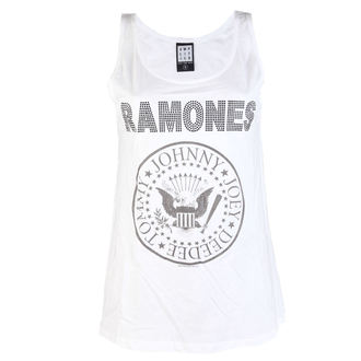 tílko dámské RAMONES - LOGO DIAMANTE - WHITE - AMPLIFIED, AMPLIFIED, Ramones