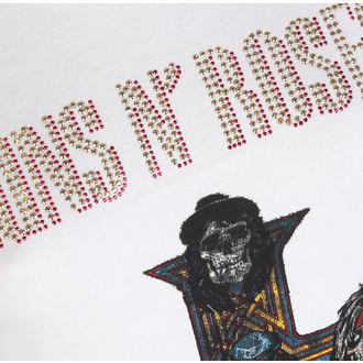 tričko dámské Guns N' Roses - CLASSIC DIAMANTE - WHT - AMPLIFIED