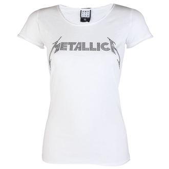 tričko dámské METALLICA - CLASSIC LOGO WHITE - AMPLIFIED, AMPLIFIED, Metallica