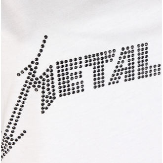 tílko dámské METALLICA - CLASSIC LOGO WHITE - AMPLIFIED, AMPLIFIED, Metallica
