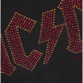 tričko dámské AC/DC - LOGO CHARCOAL RED - AMPLIFIED, AMPLIFIED, AC-DC