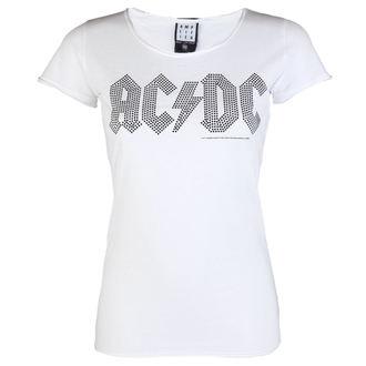 tričko dámské AC/DC - LOGO WHITE BLACK - AMPLIFIED, AMPLIFIED, AC-DC