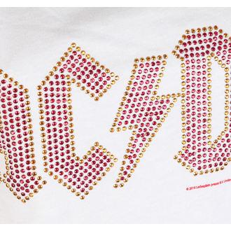 tílko dámské AC/DC - CLASSIC LOGO WHITE - AMPLIFIED, AMPLIFIED, AC-DC