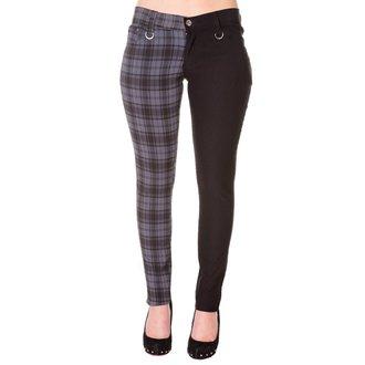 kalhoty dámské BANNED - TBN416R/CHECKBLK/GRY