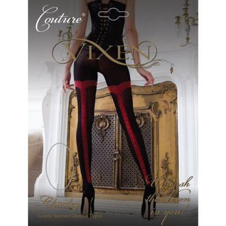 punčocháče LEGWEAR - charley opaque - black with red seam