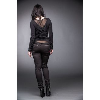 tričko dámské s dlouhým rukávem QUEEN OF DARKNESS - Black and Silver